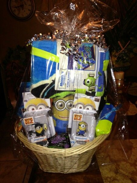 Minion Birthday Gift Basket