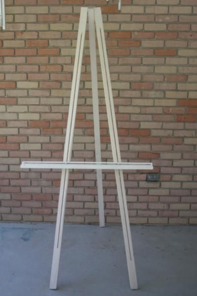 Build Your Easel The Cheap Way Easel Plans Pinterest