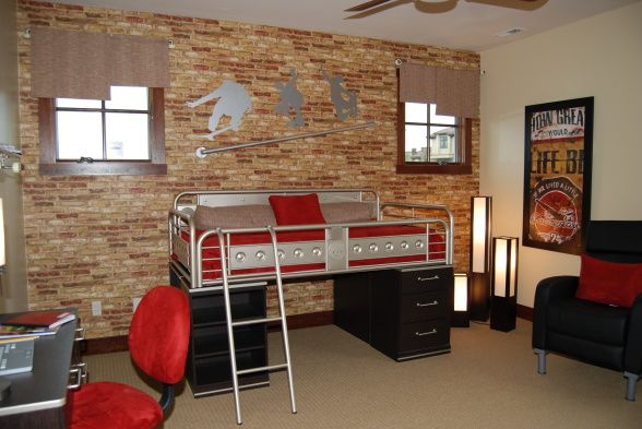 Best Skate Board Theme This Is A Boys Room In A Model Home 400 x 300