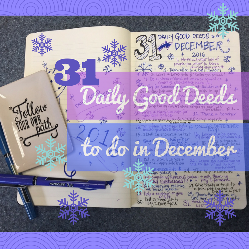 31 daily good deeds to do in December