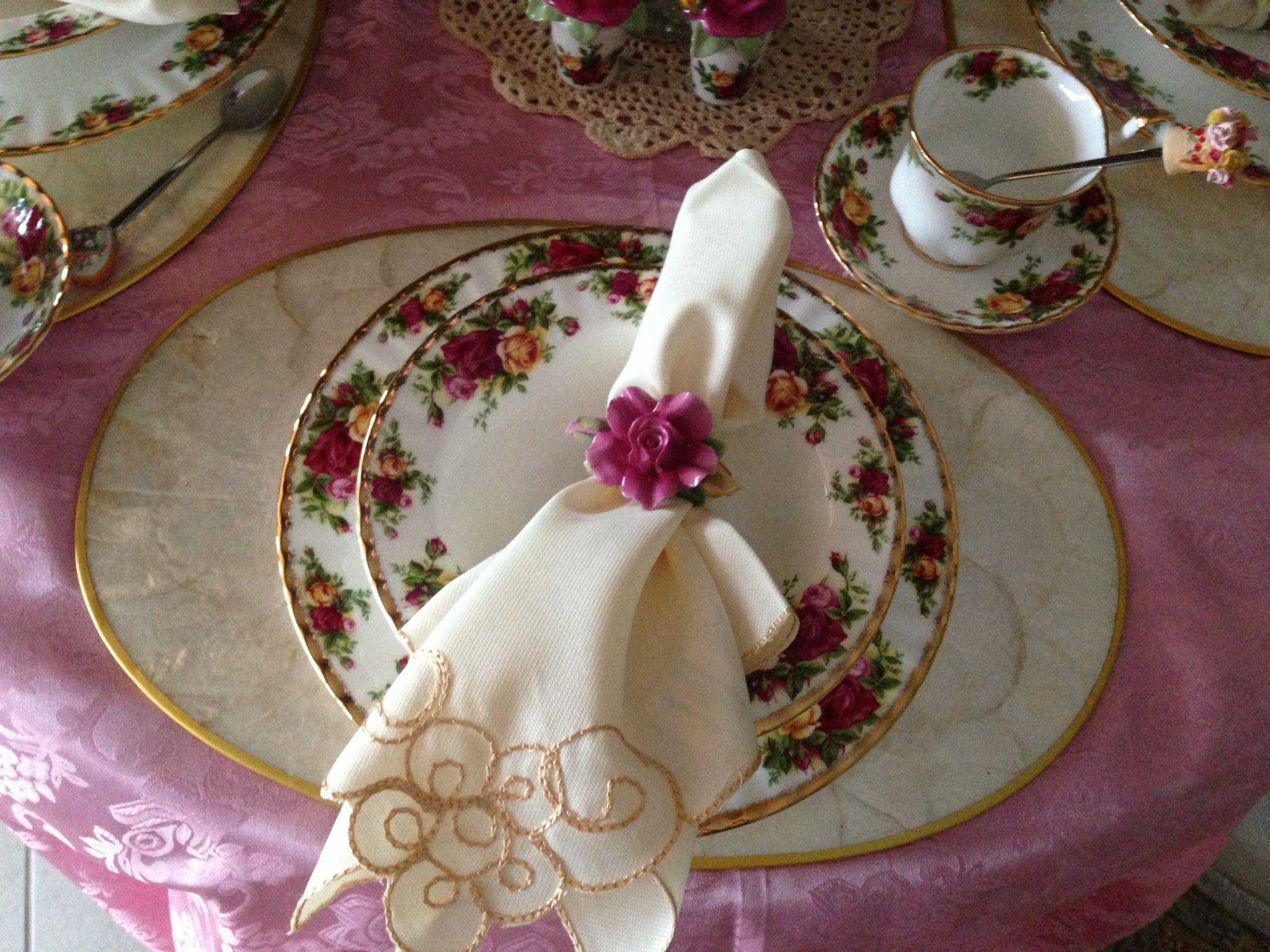 Table Setting Royal Albert Old Country Rose Tea Table Settings