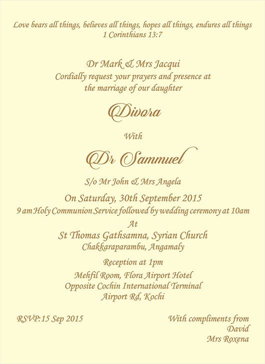 Pin By Univesal Exports On Christian Wedding Ceremony Wordings Christian Wedding Invitations Christian Wedding Invitation Wording Christian Wedding
