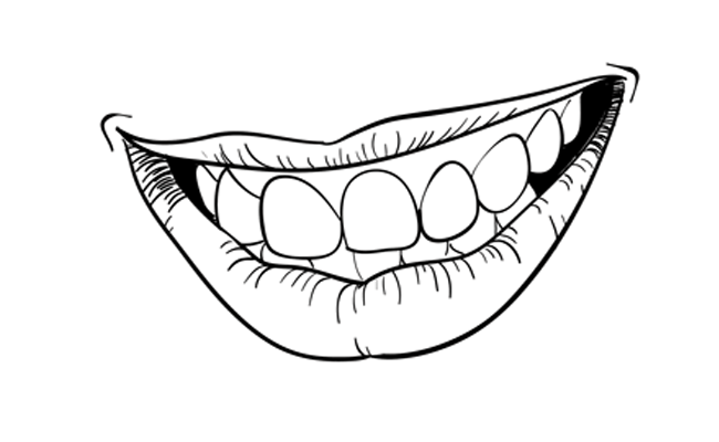 How To Draw A Smiling Mouth Step By Step Smile Drawing Smile Illustration Sketchbook Challenge
