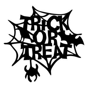 Halloween Trick Or Treat Silhouette.Silhouette Design Store Halloween Trick Or Treat Spider Web
