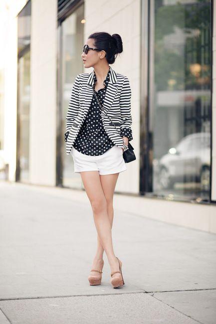 Marshmallow :: Striped blazer