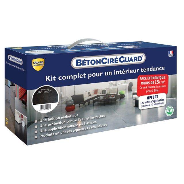 Kit Beton Cire Guard Gris Anthracite Pret A L Emploi Leroy Merlin Industrie Beton Cire
