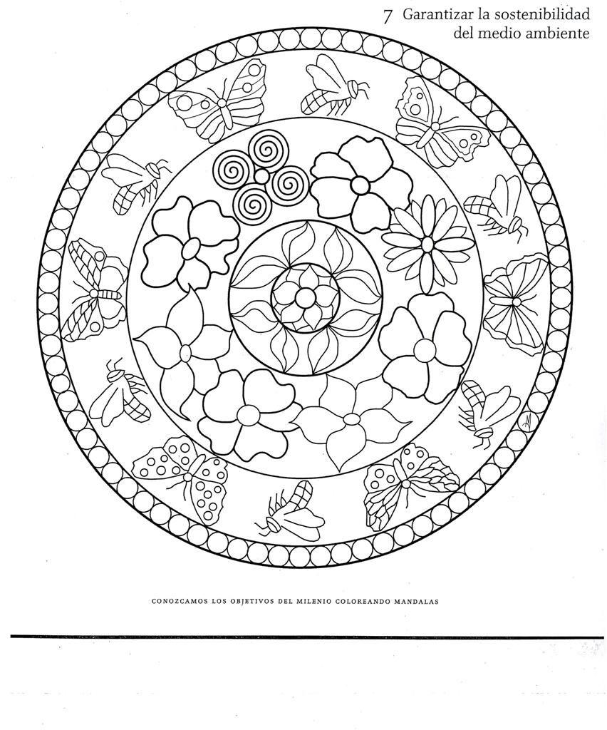 Printable Mandala Coloring Pages | Mandala mariposa Colouring Pages ...