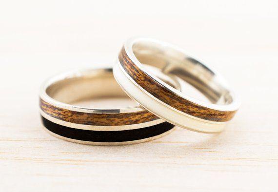 Bentwood Wedding Ring Set Wood Wedding Bands Bentwood Ring Matching