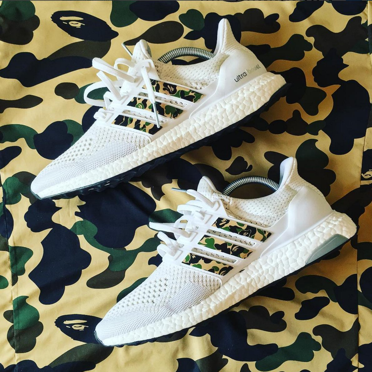 premium selection 3e9b4 4dfa0 Bape x Adidas Ultra Boosts.
