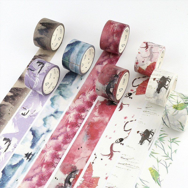 10 Roll DIY Tape Decorative Masking Tape Scrapbooking Diary Paper Stickers