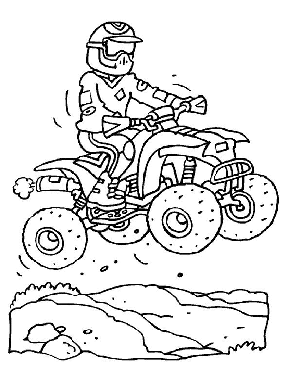 Quad En Action Ideas Coloriage Moto Coloriage Et