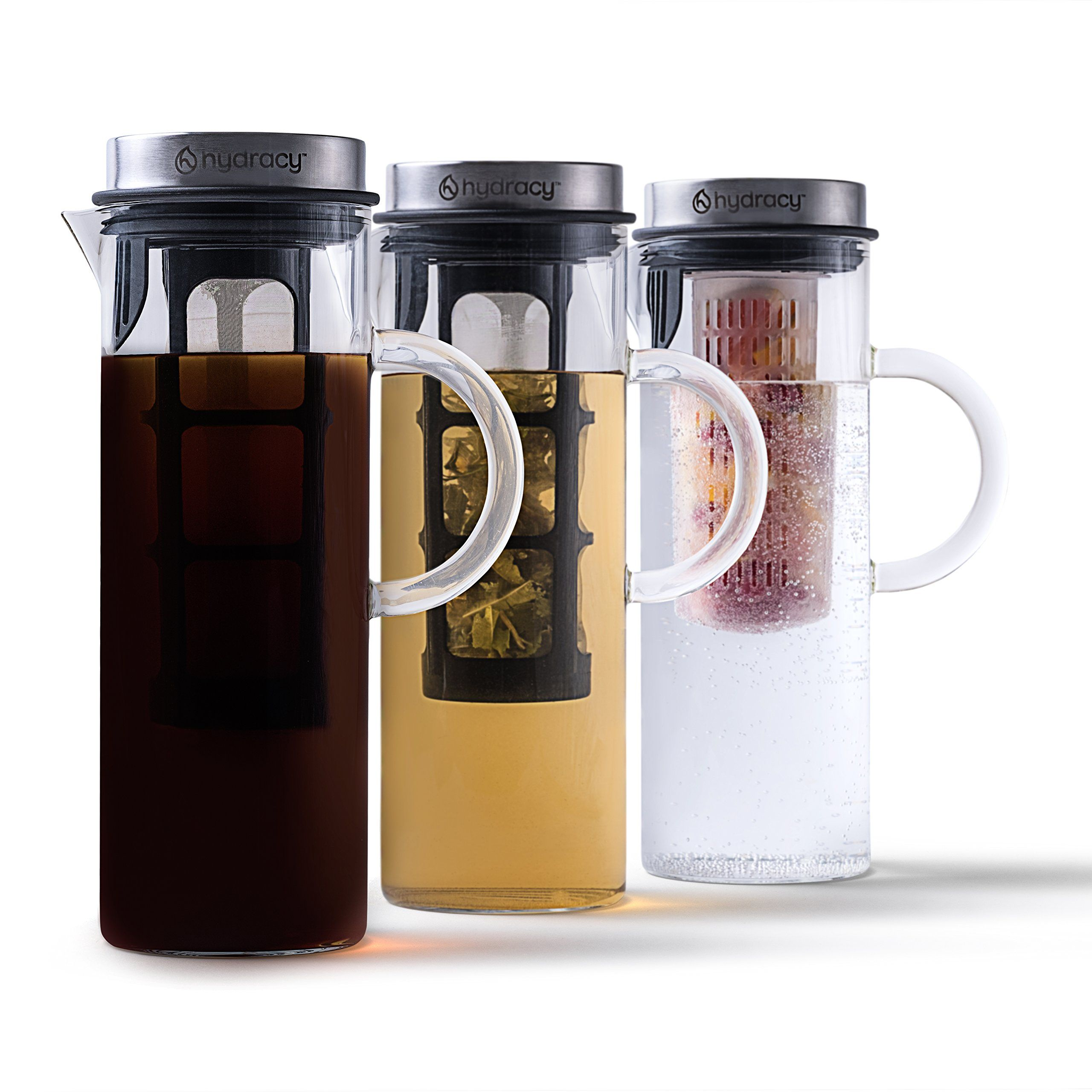 Cold Brew Coffee Maker Large Glass Infusion Pitcher 1.6
