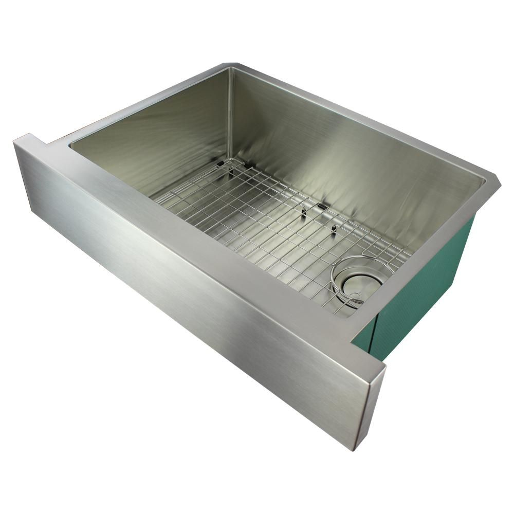 Transolid Diamond Farmhouse Apron Front Stainless Steel 30 In