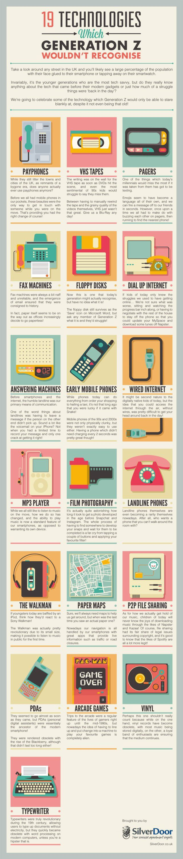 19 Technologies Gen Z Wouldn T Recognize Infographic Social Media Today Generation Z Social Media Infographic Infographic