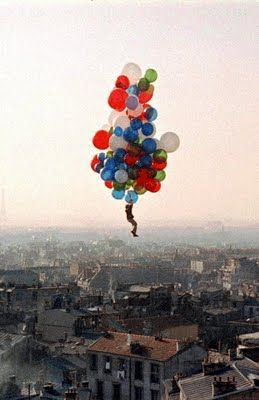 The Red Balloon........and the blue and the white....