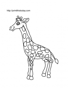 animals coloring pages print this today my bubby giraffe coloring pages animal coloring. Black Bedroom Furniture Sets. Home Design Ideas
