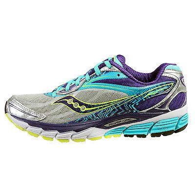 discount sale 3990a f95d4 Saucony Ride 8 Womens S10273-1 Silver Purple Blue Running Training Shoes  Size 9