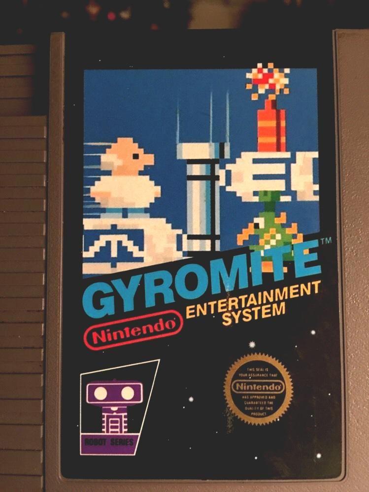 gyromite nintendo nes game cartridge only (5 screw