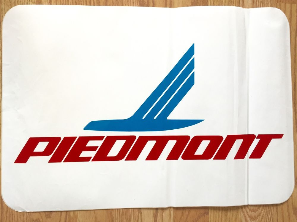 Vintage Piedmont Airlines Airport Signage Decal  -1980s
