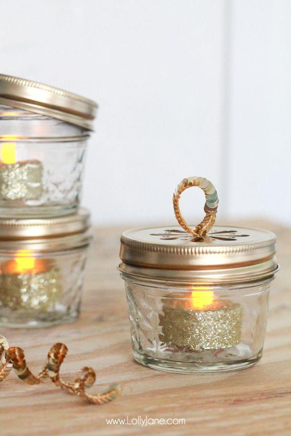 Diy Ball Jar Christmas Ornaments Christmas Jars Tea Lights Christmas Christmas Light Ornament