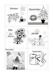 Die zwölf Monate: Gedicht / Rätsel / Domino | allemand | Pinterest ...