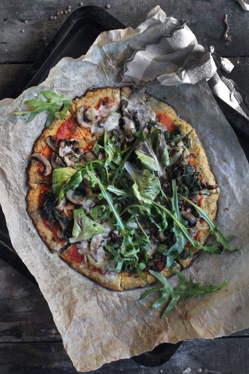 Cauliflower crust pizza and what about tomato sauce
