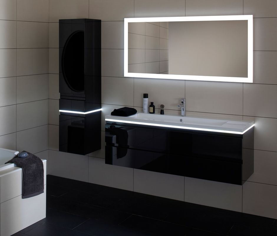 meuble de salle de bains contemporain halo - la salle de bains ... - Salle De Bain Contemporain