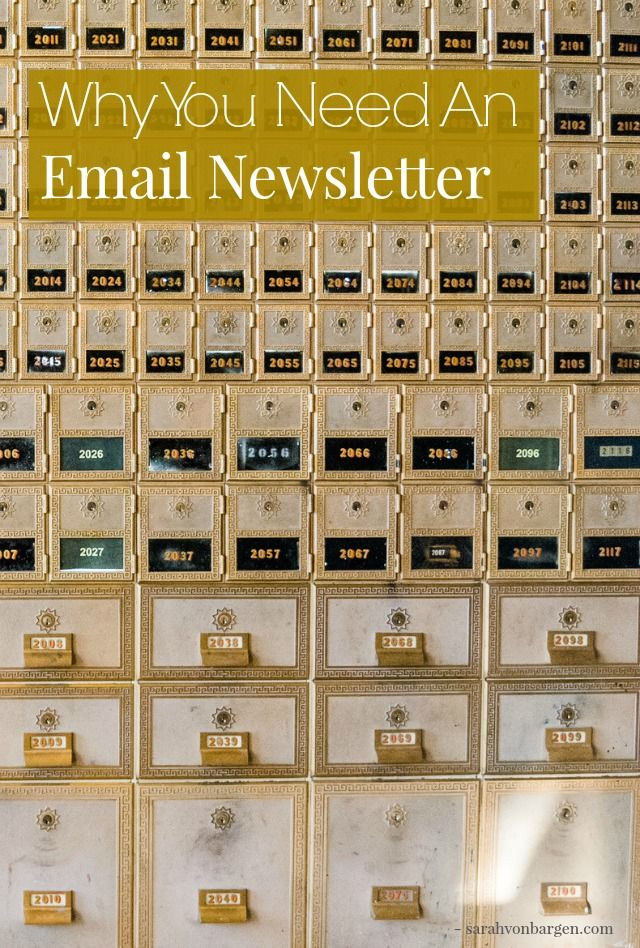 you need an email newsletter