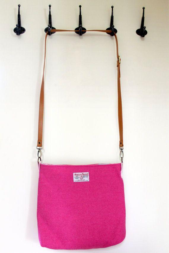 978c6448a3738 Harris Tweed bag crossbody bag Tweed purse by Enchantingcrafts ...