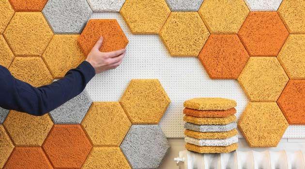 Una manera original de decorar tu hogar. Utiliza formas hexagonales y dale un toque diferente.  #decoración #hogar