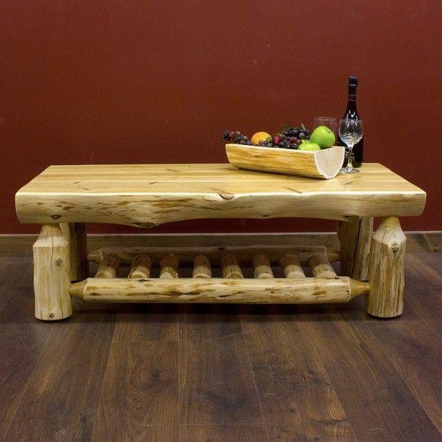 Cedar Lake Half Log Coffee Table