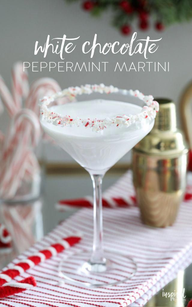 This White Chocolate Peppermint Martini makes delicious holiday cocktail.