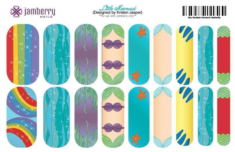 Little Mermaid Inspired Jamberry Nail Wraps! Make yours in the Nail ...