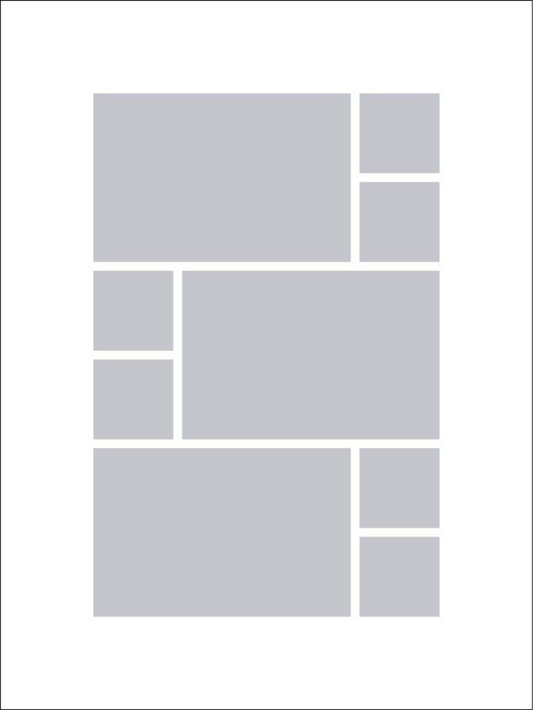 Fotocollage 30x40 | 9 Bilder Hochformat