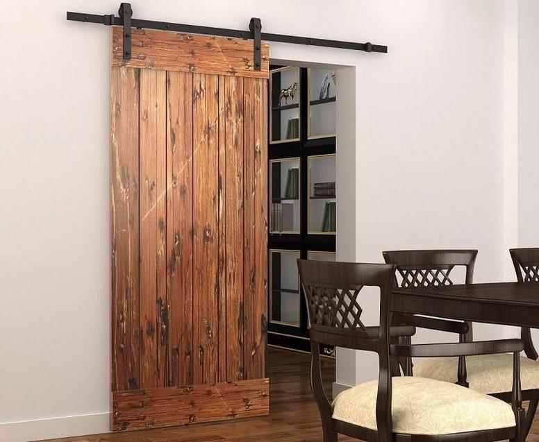 Hanging Sliding Door sliding barn door hardware sliding track black rustic barn door