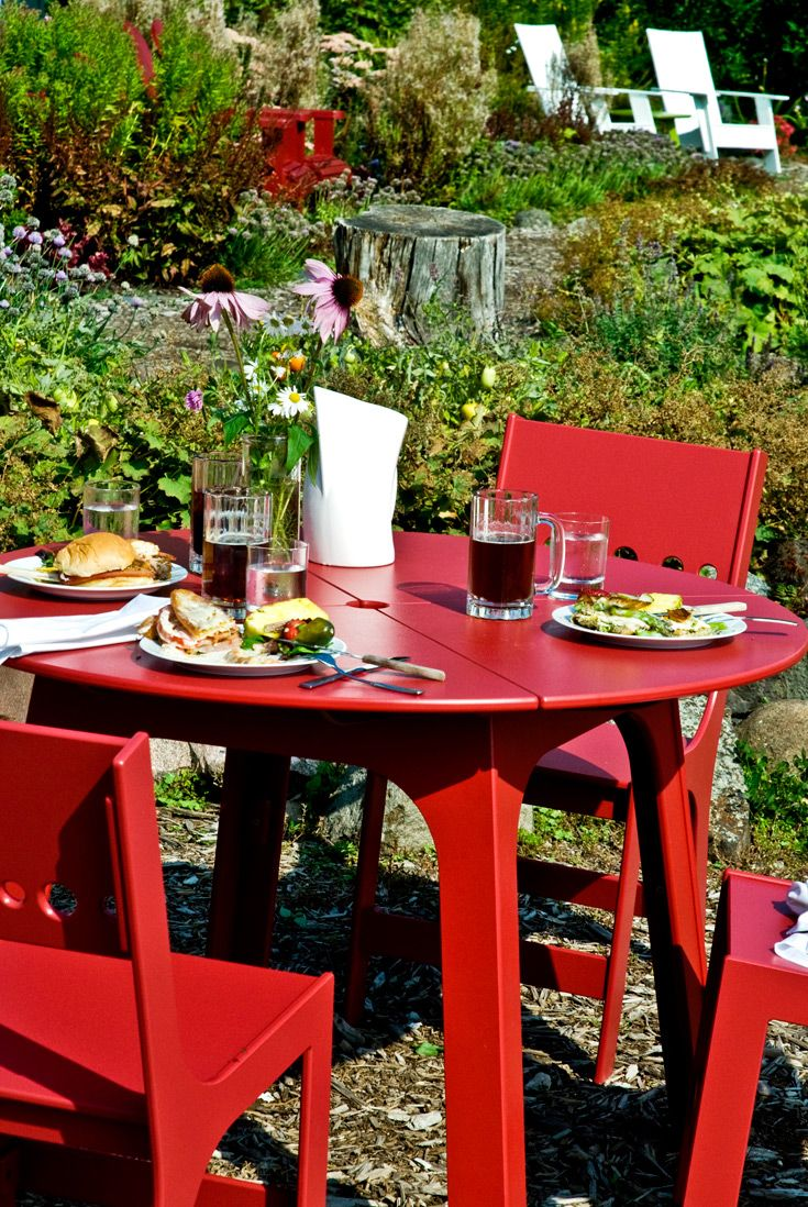 Super Alfresco Round Outdoor Dining Table With Cricket Outdoor Customarchery Wood Chair Design Ideas Customarcherynet