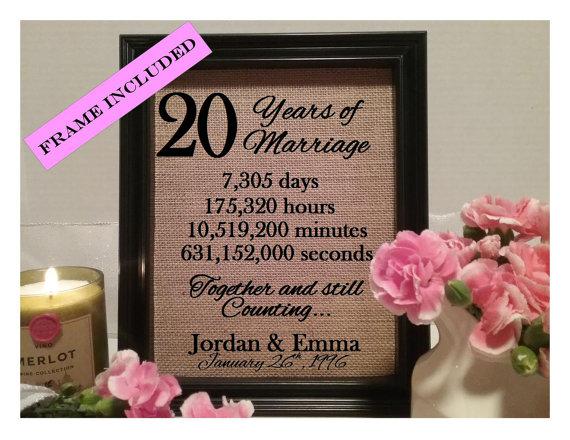 Wedding Anniversary 20 Years Gift: 20 Years Of Marriage, 20th Wedding Anniversary, 20 Years
