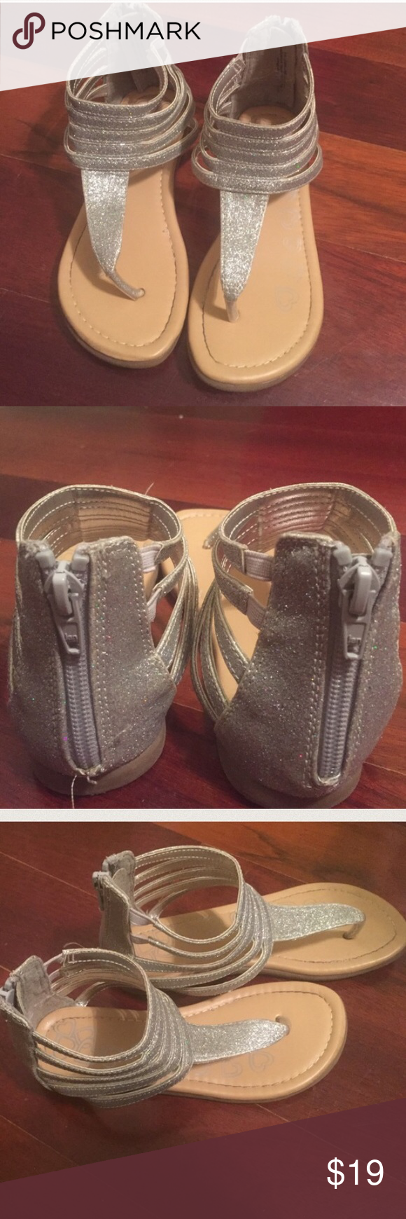 ❌Final Price ⬇️❌ Silver Children's Place Sandals Silver Children's Place Sandals Children's Place Shoes Sandals & Flip Flops