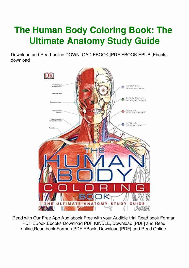 Human Body Coloring Book Fresh Read The Human Body Coloring Book The Ultimate Anatomy Anatomy Coloring Book Coloring Books Coloring Book App