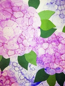 Bubble Hydrangea Art Project for Kids