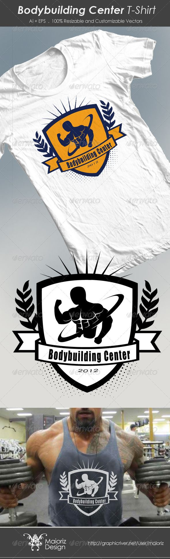 Design t shirt on mac - Bodybuilding Center Tshirt
