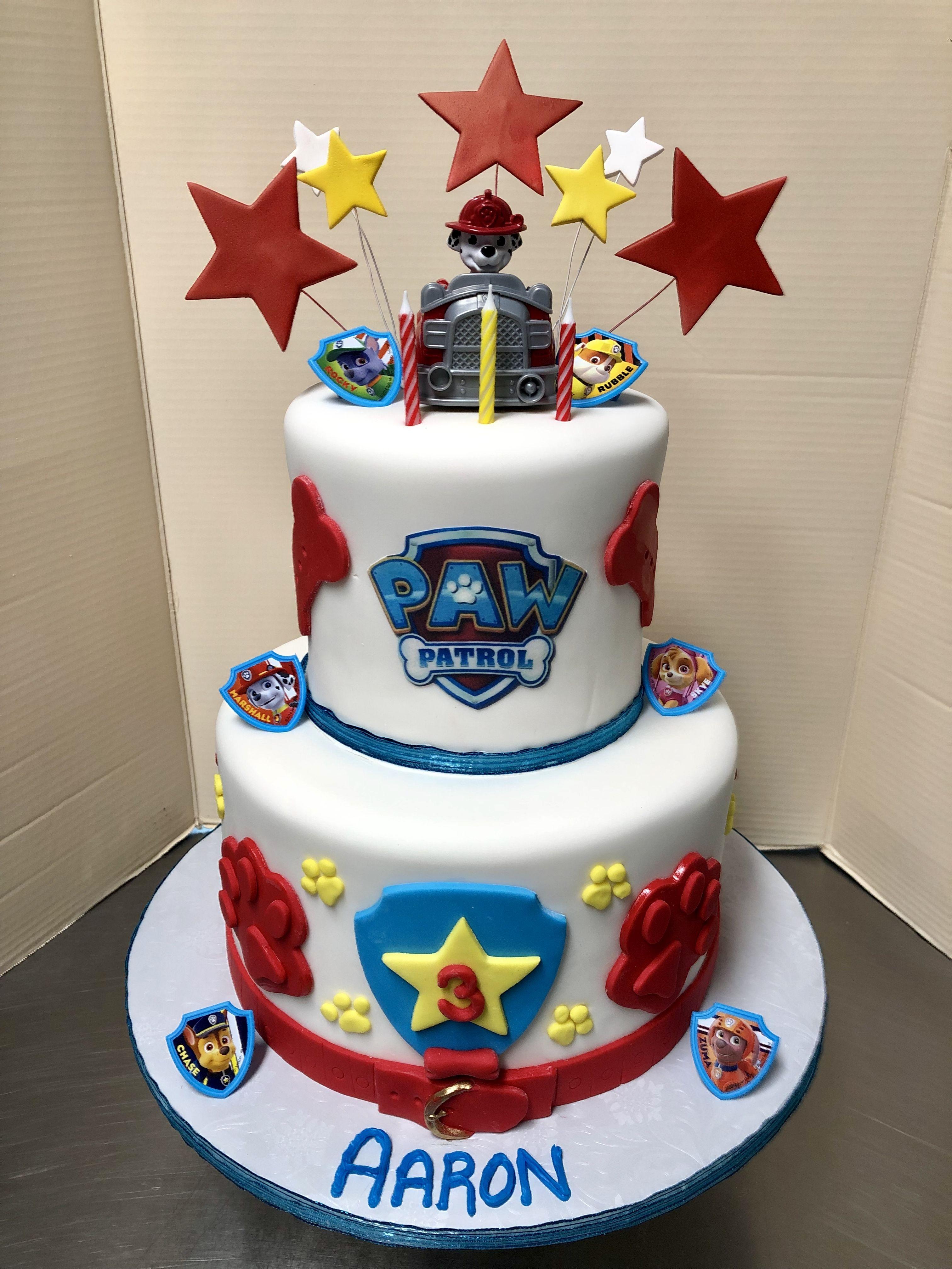 Paw Patrol 3rd Birthday Cake 3rd birthday cakes, Cake