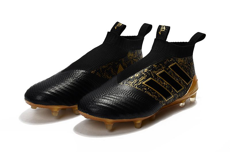 Adidas PP Ace 17+ Purecontrol Firm Ground Boots - Core Black   Matte Gold ad92e12031