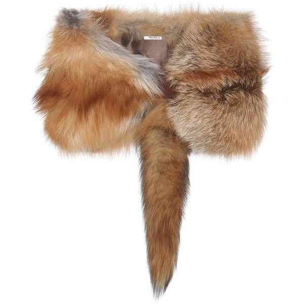 Miu Miu Fur Stole (20,065 MXN) ❤ liked on Polyvore featuring accessories, scarves, fur, brown, miu miu, brown shawl, brown scarves, fur stole and fur scarves