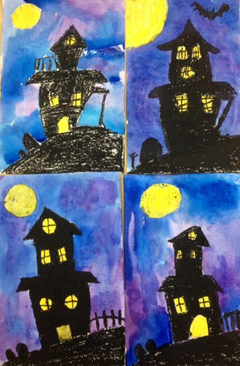 Maison Hantee Maison Hantee Halloween Dessin Peinture Halloween