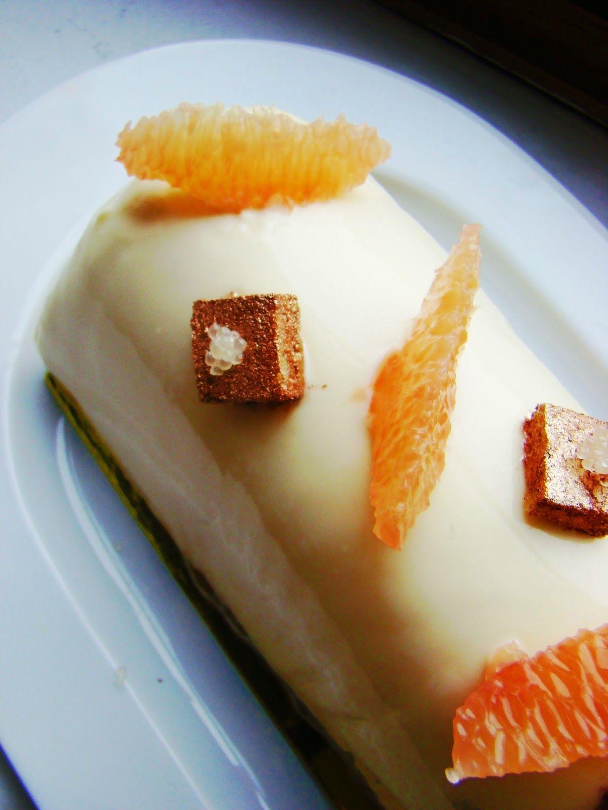 °°popote de véro°°: Bûche au miel de citronnier, yuzu, pamplemousse, citron, citron vert pour une farandole d agrumes...