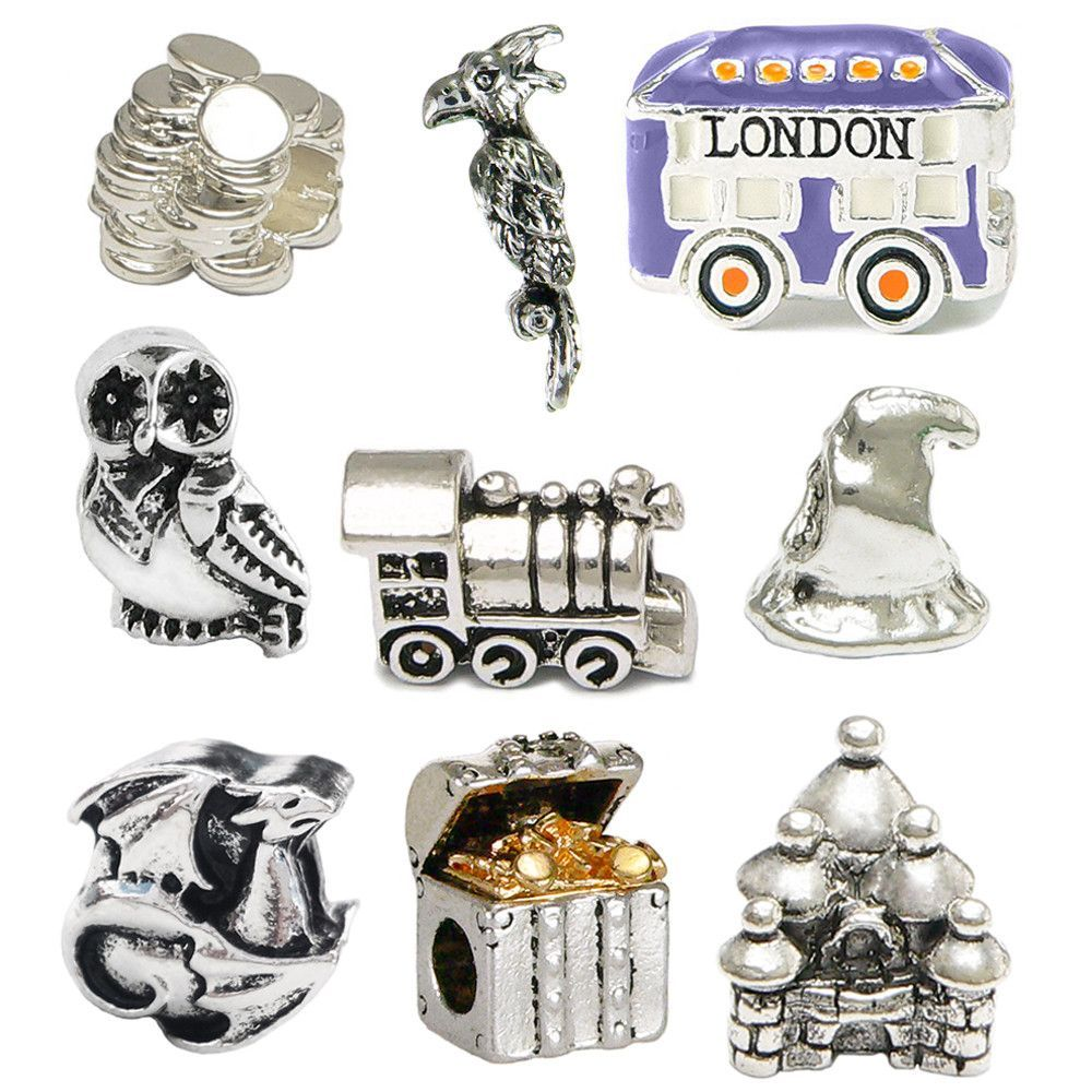 Harry Potter Inspired Nine Charm Set  Pandora Stylepatible + Two Harry  Potter 35mm Film