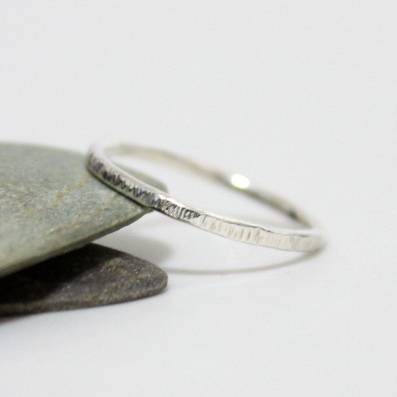 Sterling Silver Hammered Stacking ring/ Silver by rosajuri on Etsy