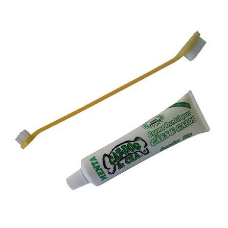 Kit Dental Cabo Longo Menta 90 g Amarelo Cat-Dog & Cia - MeuAmigoPet.com.br #petshop #cachorro #cão #meuamigopet