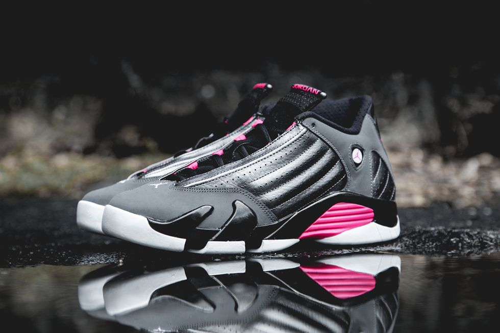 d271d4fce05e Air Jordan 14 Retro Dark Grey Hyper Pink